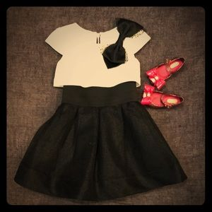 Zoe LTD Black and White Dress with Bow